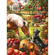 Bits and Pieces - 500 Piece Jigsaw Puzzle for Adults - Autumn Farm - 500 pc Fall Pumpkin Jigsaw by Artist Larry Jones