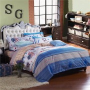 3 or 4pcs Suit Western Style Reactive Dyeing Polyester Fiber Bedding Sets Single Twin Queen Size