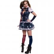 DC Comics Women's Harley Quinn Fancy Dress - M/UK 12-14 - Multi