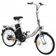 vidaXL Bicicletă electrică pliabilă cu baterie Li-ion, aliaj de aluminiu
