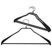 """MAWA por Reston Lloyd Bodyform Serie Antideslizante Space-Saving Clothes colgadero para Chaquetas, (16 1/2"""" Pants Bar), Negro, 1"""