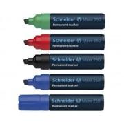 MARKER PERMANENT SCHNEIDER MAXX 250, varf tesit 2-7 mm albastru