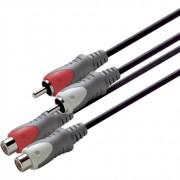 Scanpart Verlengkabel 2xTulp(M)-(F) 10m