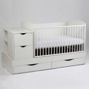Patut copii si bebe Transformer Eco Plus Fix Alb Bebe Design