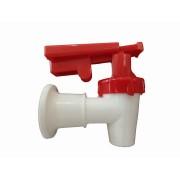 Llave para dispensador Agua Caliente Mango Rojo Con Guarda de Seguridad