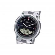 Reloj Casio Aw-80d Telememo Pila 10 50 Mts-Plateado Con Negro