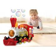 WhoGotThePlan Magic Train Bubble Machine with Music & Lights