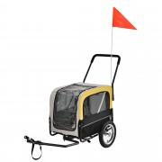[pro.tec]® Vozík za bicykel - do 25 kg - 107 x 56 x 97 cm