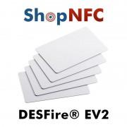 HID Global Tessere NFC in PVC bianche NXP MIFARE® DESFire® EV2 2k/4k/8k