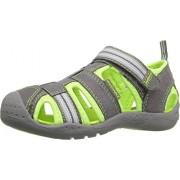 pediped Flex Sahara Water Sandal (Toddler/Little Kid), Grey Lime, 21 EU(5.5 E US Toddler)