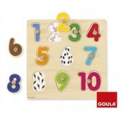 Goula Puzzle Números Piezas De Madera Diset