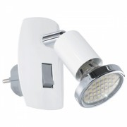 Aplica de priza Eglo Mini 4 92925, 1x2,5W LED, Alb