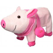 My Dancing Pig Walk Along Toy Stuffed Plush Pig, Realistic Dancing & Walking Actions with Music (Colors May Vary)