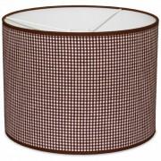 Taftan Hanglamp Kleine Ruit Bruin-diameter 35 cm