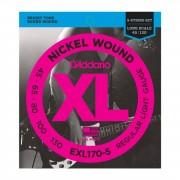 D'Addario 5 cuerdas para bajo XL níquel 45-130 45-65-80-100-130, EXL170-5