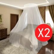 Sonata Мрежа против комари за легло, 2 бр, кръгла, 56x325x230 см