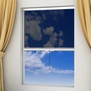 vidaXL Biela rolovacia sieťka na okno 140 x 170 cm