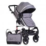 Cangaroo Kolica za bebe Gala Dark Grey Leather (CANG003)