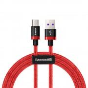 Baseus Type-C USB töltő- és adatkábel max. 5A, 1.0m, piros
