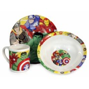 Avengers ontbijtset: bord, schaaltje, mok (keramiek)