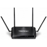 Router Wireless TRENDnet TEW-827DRU, Gigabit, Dual Band, 2600 Mbps, 4 Antene externe (Negru)