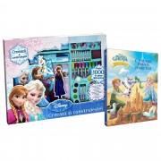 Set Creativ Frozen + Carte Regatul de Gheata Povesti si jocuri