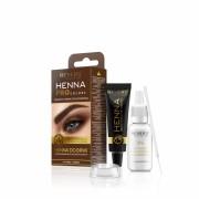 Vopsea gene si sprancene Revers Henna Pro Colors 2.0 maro deschis