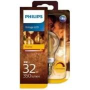 Philips LED kogel E27 5W Filament Flame Blister
