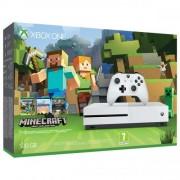 Consola Xbox One Slim 500 GB, alb + Joc Minecraft Favourites