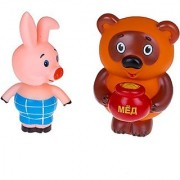 Russian Winnie the Pooh and the Piglet Bath Toy Set (4 )
