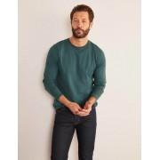 Boden Dunkles Smaragdgrün Langärmliges Vorgewaschenes Shirt Herren Boden, L, Emerald Night Green