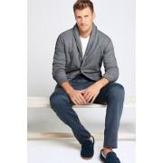 ランズエンド LANDS' END メンズ・シェルパラインド・ラウンジ・ジャケット(チャコールヘザー)