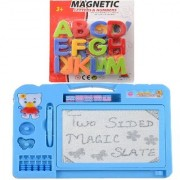 New Pinch Combo of Magnetic Learning Alphabets (ABC) with drawing writing Double Side Magic Slate for kids