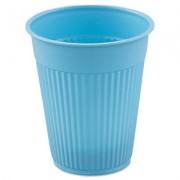 Plastic Medical & Dental Cups, 5 Oz, Sky Blue, Fluted, 100/bag, 10 Bags/carton