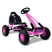 Kids Pedal Powered Racing Go Kart Pink