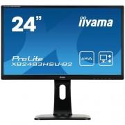 Monitor iiyama XB2483HSU-B2, 24'', LCD, AMVA, 4ms, 250cd/m2, 3000:1, VGA, DVI, HDMI, USB, repro, pivot, výšk.nastav.