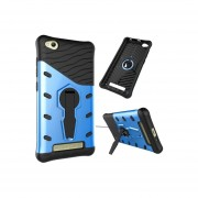 Xiaomi Redmi 4a Resistente A Los Golpes De Giro De 360 Grados Sniper Hybrid Case Tpu + Pc Combinación Caso Con El Titular (azul)