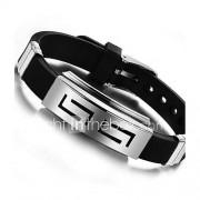 Heren ID Armbanden Uniek ontwerp PERSGepersonaliseerd Kostuum juwelen Siliconen Titanium Staal Sieraden Sieraden Voor Dagelijks Causaal