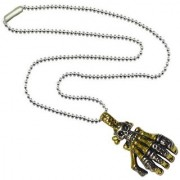 Men Style Dual tone Skeleton Hand Claw Retro Rocker Biker Gold And Silver 316L Stainless Steel Hand Pendent