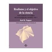 Popper Karl Raimund Realismo Y Objetivo De La Ciencia: Post Scriptum A La Logica De L A In