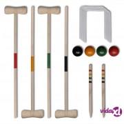 vidaXL Drveni set za kriket za četiri osobe