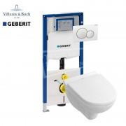 Geberit Villeroy & Boch O.novo toiletset met Geberit UP320 en Sigma01 bedieningspaneel