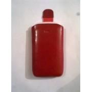Червен калъф за HTC Touch2 от естествена кожа