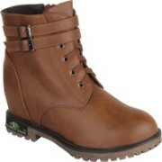 Authentic Vogue Authentic Vogue Womens Leather Brown Boot Boots For Women(Brown)