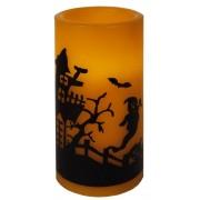 Star Trading LED vaxljus Halloween 15cm husmotiv med timer