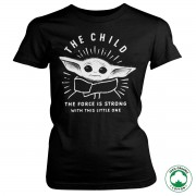 The Force Is Strong With This Little One Organic Girly T-Shirt