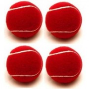 Tahiro Red Cricket Balls - Pack Of 4