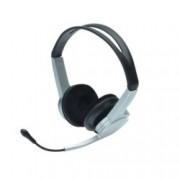 Слушалки Ednet 83123, USB, микрофон, сиви
