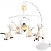 Музикална въртележка за кошара - жирафи и маймунки, 1367 Babyono, 9070194