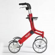 Déambulateur Let's Go Out - 4 roues pliable - Rouge